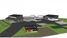 Usine de méthanisation à Janzé (35) : visuel au stade permis de construire